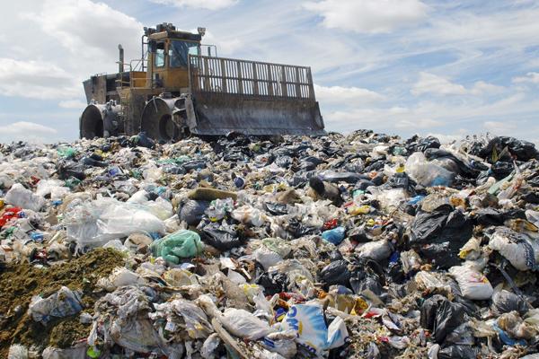 мусорная свалка промышленных отходов - Garbage dump of industrial waste