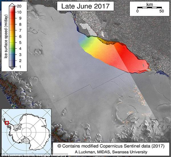 Ларсен С трещина ледника